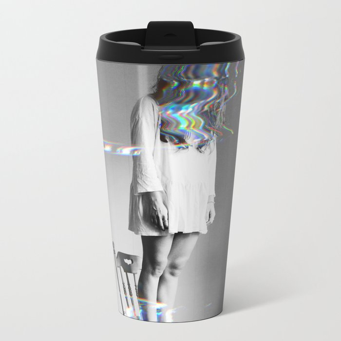 Glitch Girl Metal Travel Mug