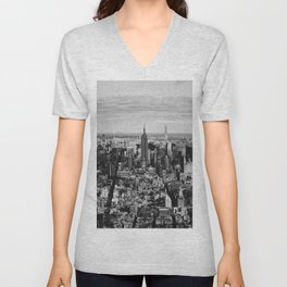 where dreams are made of (black and white) Unisex V-Neck