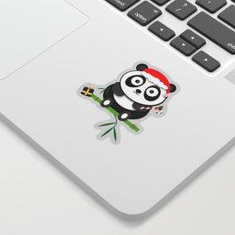 Holiday Panda Sticker