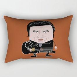 Johnny Cash - Funny Cubes Series Rectangular Pillow