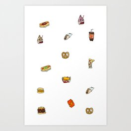 food court ii Art Print