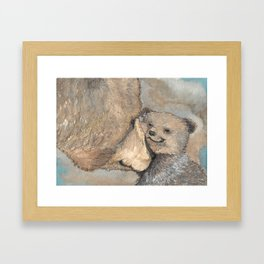 Grizzly Love Framed Art Print