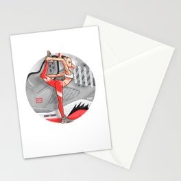 "Yoga girl CoolNoodle and ""Hot LAVA"" Stationery Cards"