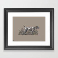 Pointer in Color Framed Art Print