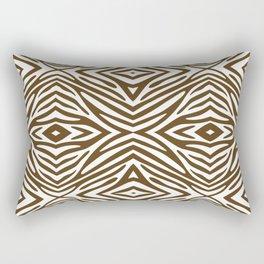 Pecan Neutral Zebra Rectangular Pillow