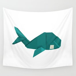 Origami Whale Wall Tapestry