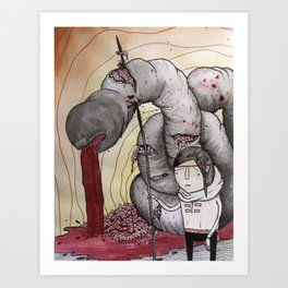 WORM SLΔYER Art Print