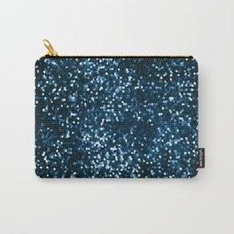 Blue Geometric Abstraction Carry-All Pouch