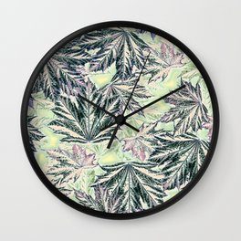 EMERGING MAPLE LEAVES INVERTED Wall Clock