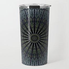 Dark Blue Mandala Travel Mug