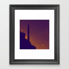 Purple Mosque Framed Art Print