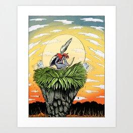 Gnobo at Dusk Art Print