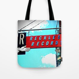 Reckless Records ~ chicago sign Tote Bag