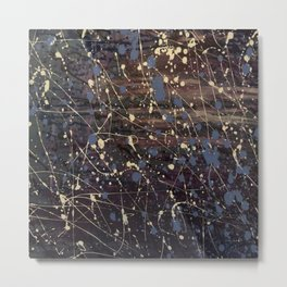 New York. Graffiti, Abstract, Blue, Purple, Pollack, Jodilynpaintings, Splatter Metal Print