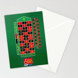Roulette Table Stationery Cards