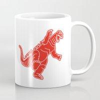 godzilla Mugs featuring Godzilla by Design Made in Japan