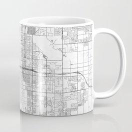 Fresno Map Line Coffee Mug
