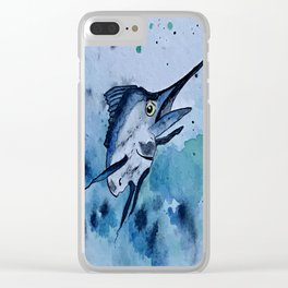 Colors of the Sea Clear iPhone Case