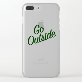 Go Outside (The Moutains are Calling) Clear iPhone Case