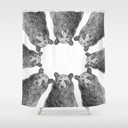 Bear Huddle Shower Curtain