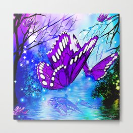 BUTTERFLY REFLECTIONS Metal Print