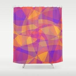 Waves backround Shower Curtain