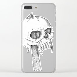 Impaled Skull Clear iPhone Case