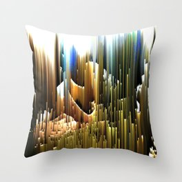 Upwards to the sunshine after the rain Throw Pillow