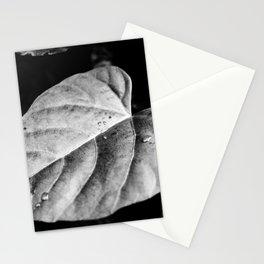 Grå Löv Stationery Cards