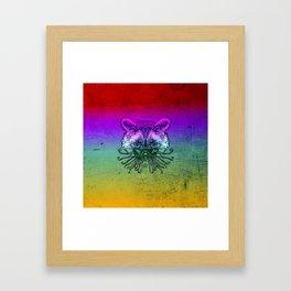 Cool Raccoon Color Framed Art Print