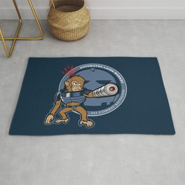 Automated Laser Monkey Rug