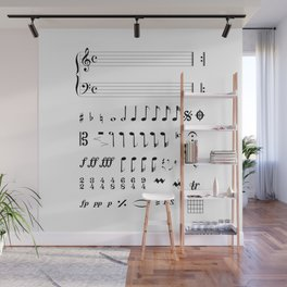 Musical Notation Wall Mural