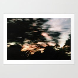 Traveling Sunset Art Print