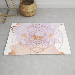 Light Me Up and Away - Copper Rose Gold Rug