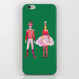 Nutcracker Ballet - Candy Cane Green iPhone Skin