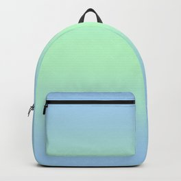 Baby Blue to Mint Green Bilinear Gradient Backpack