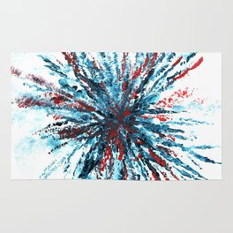 Firework Abstract Painting Rug