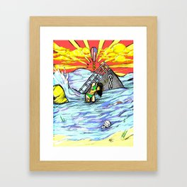 Washing Away Framed Art Print