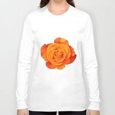 Romantic Rose Orange Long Sleeve T-shirt