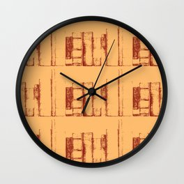 Books, in a row Wall Clock