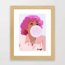 DROPOUT Framed Art Print