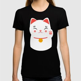 Lucky happy Japanese cat T-shirt