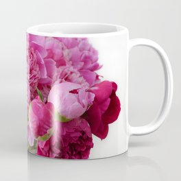 Pink Peonies Romantic Floral Bouquet Coffee Mug