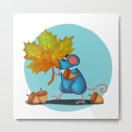 Mr. Bluemouse Thanksgiving Metal Print