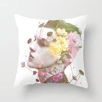 charlie Throw Pillows featuring Charlie by Krister Selin