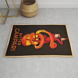 Vintage Orange Motif Bitter Campari Aperitif Advertisement Print Poster Rug