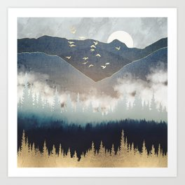 Blue Mountain Mist Art Print