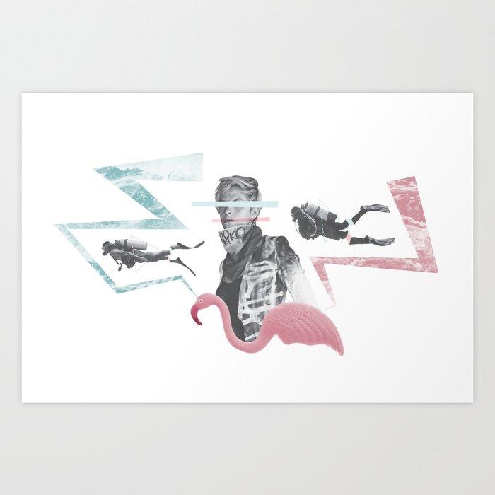 Scuba Art Print