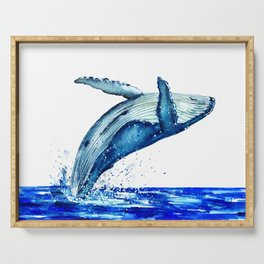 Whale breach Serving Tray