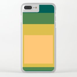Block Colors - Green Yellow Cream Clear iPhone Case